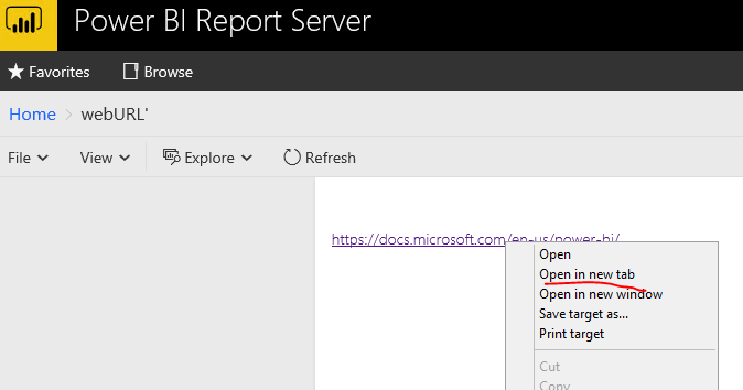 link loads a new tab rather than just moving insid    - Microsoft