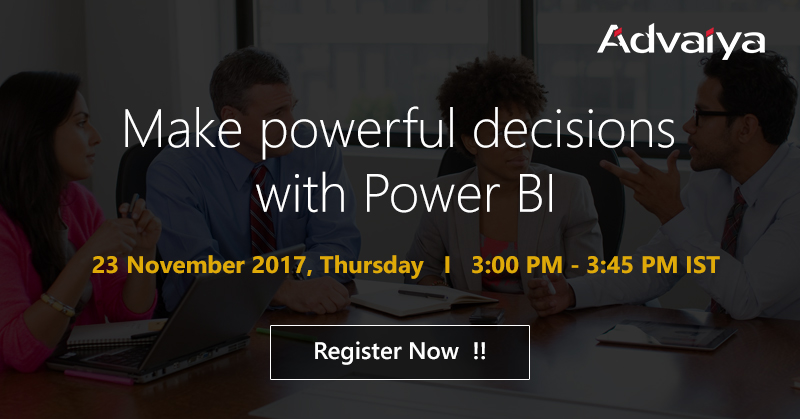 Make powerful decisions with Power BI