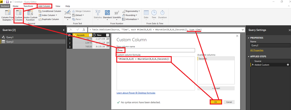 Solved How To Convert Seconds To Hhmmss Microsoft Power Bi