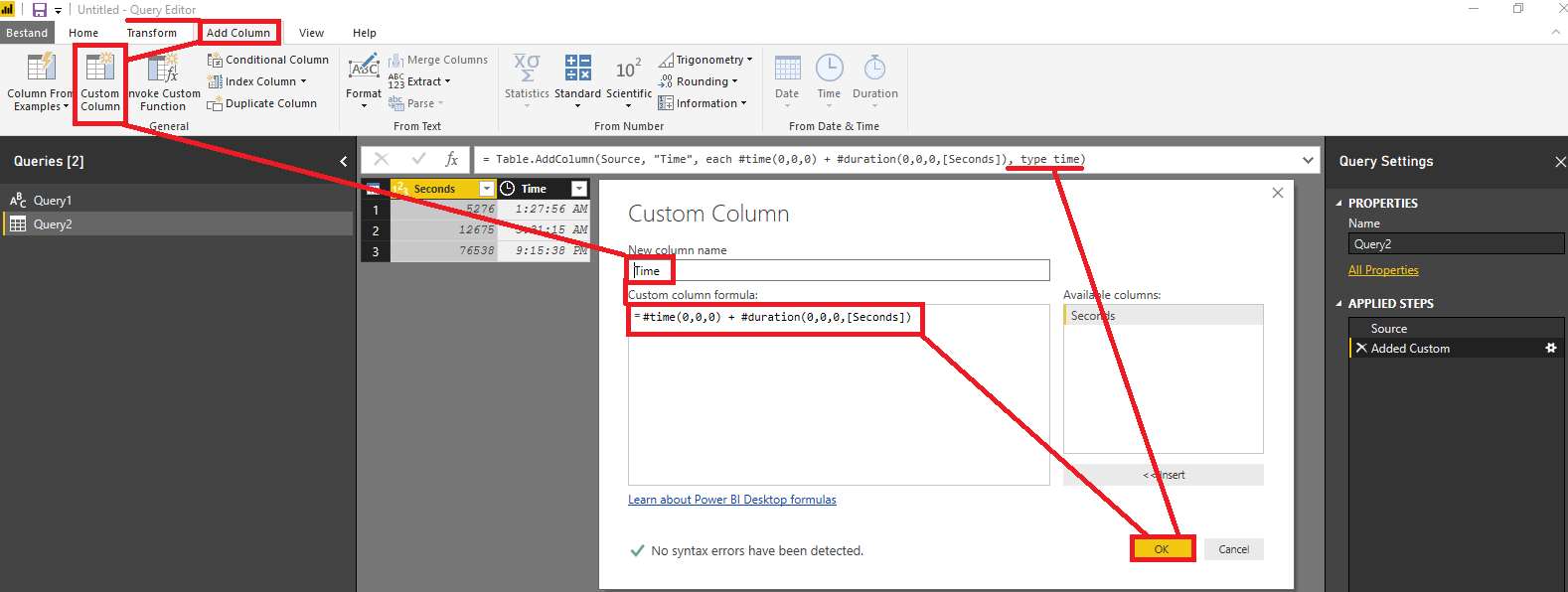 Solved: How to convert seconds to hh:mm:ss - Microsoft Power BI
