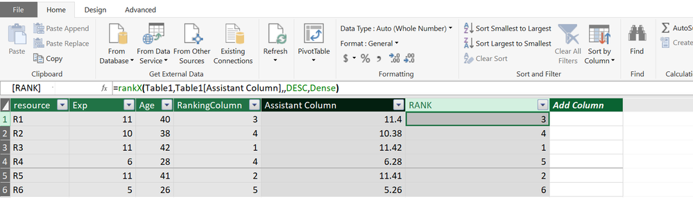 Solved: Rank a column but in case of same values consider