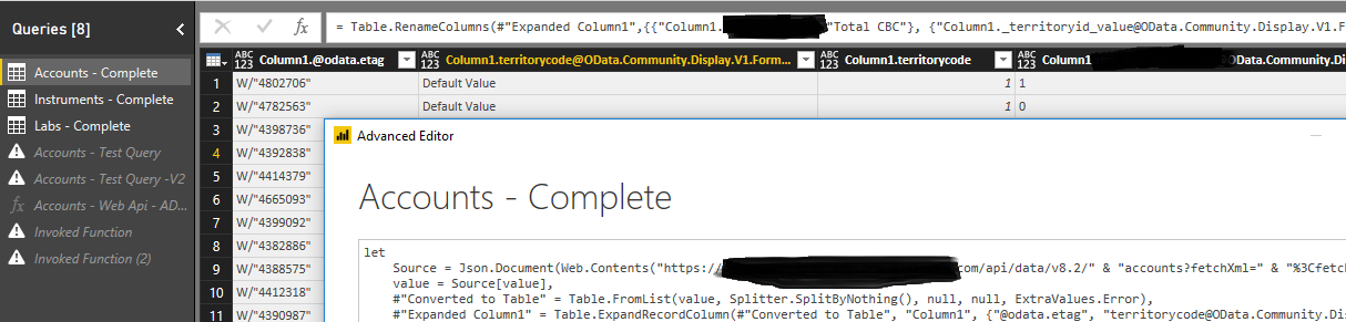 Solved: Issue with using Web API code to pull in Dynamics