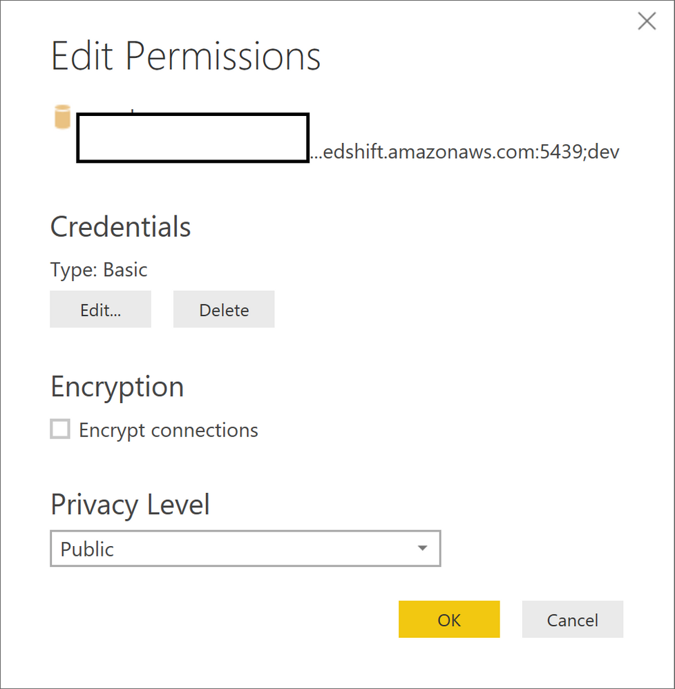 Unable to Connect to Amazon RedShift - Microsoft Power BI