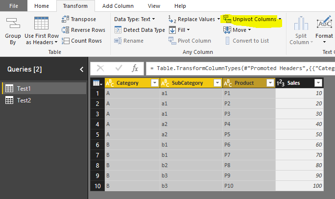 Switch a visualized table column with slicer - Microsoft