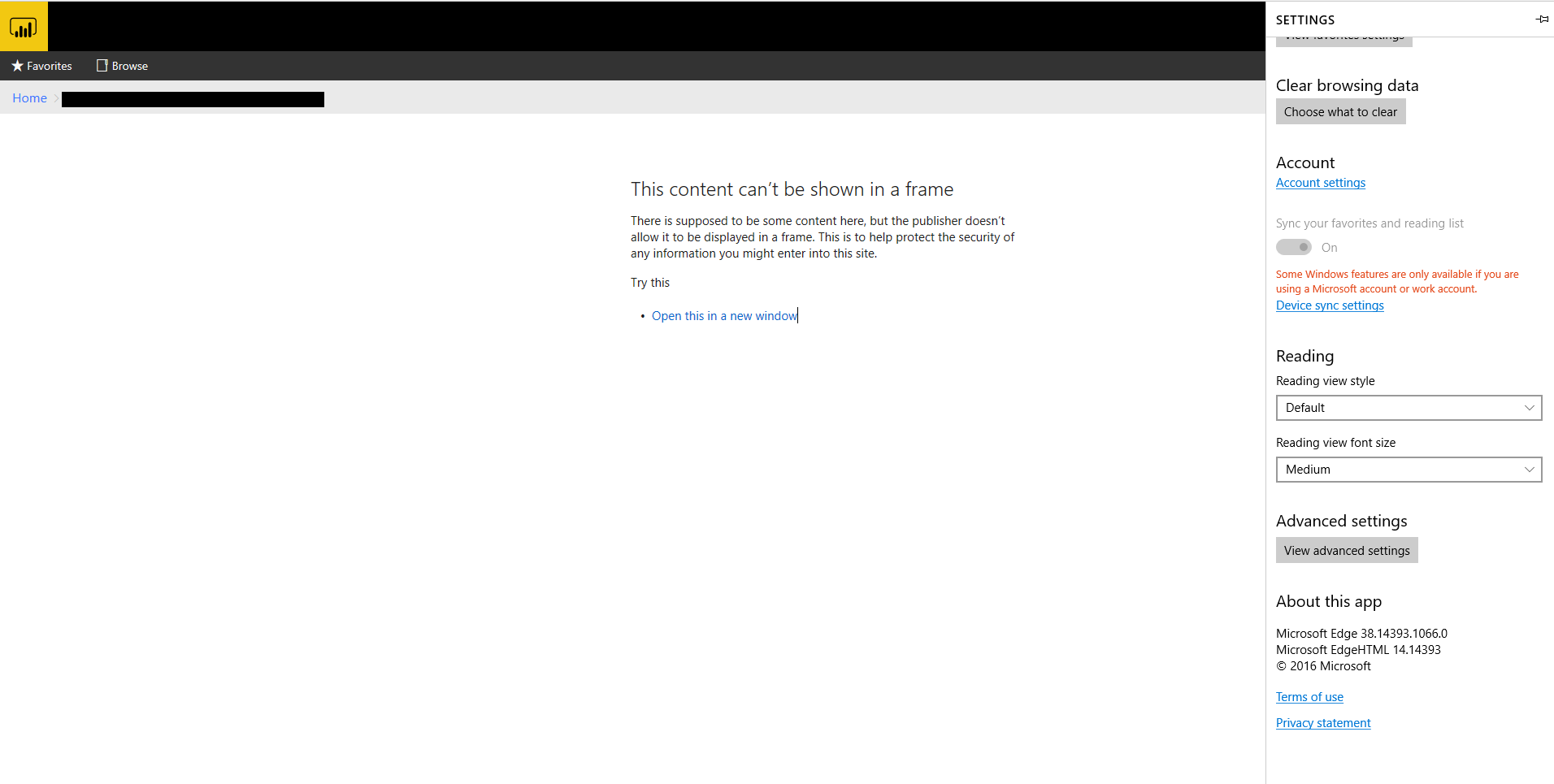 IE and Edge Report error: This content cannot be d    - Microsoft
