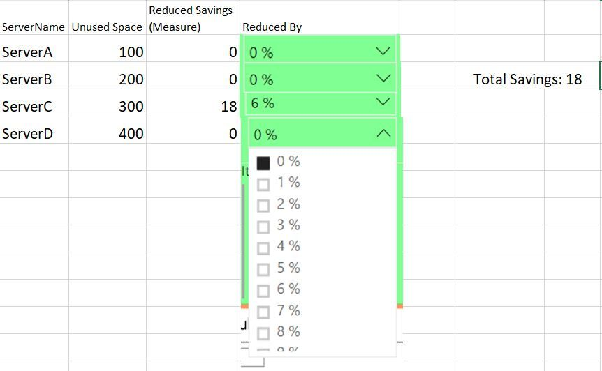Slicer for each row in a table possible? - Microsoft Power