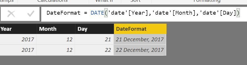 Solved: Month Day Year Separate Columns - Concatenate to C