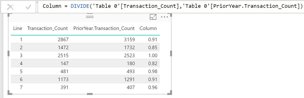 Solved: ON ADD COLUMN: DIVIDE() function with two columns