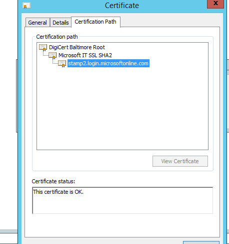 On Premise Gateway Security Certificate issue - Microsoft