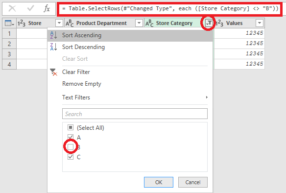 Solved: Remove rows based on category column - Microsoft Power BI