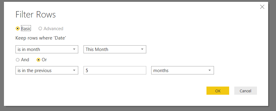 Solved: Filter query by date column - Microsoft Power BI