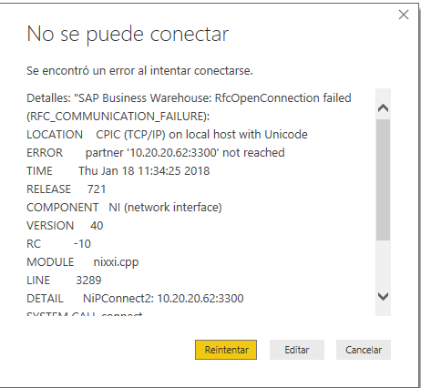 Solved: Unable to Connect - Microsoft Power BI Community