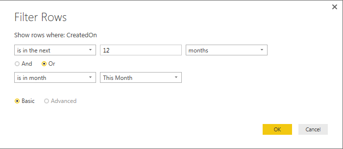 Solved: Filter Dates to only show current month and next 1
