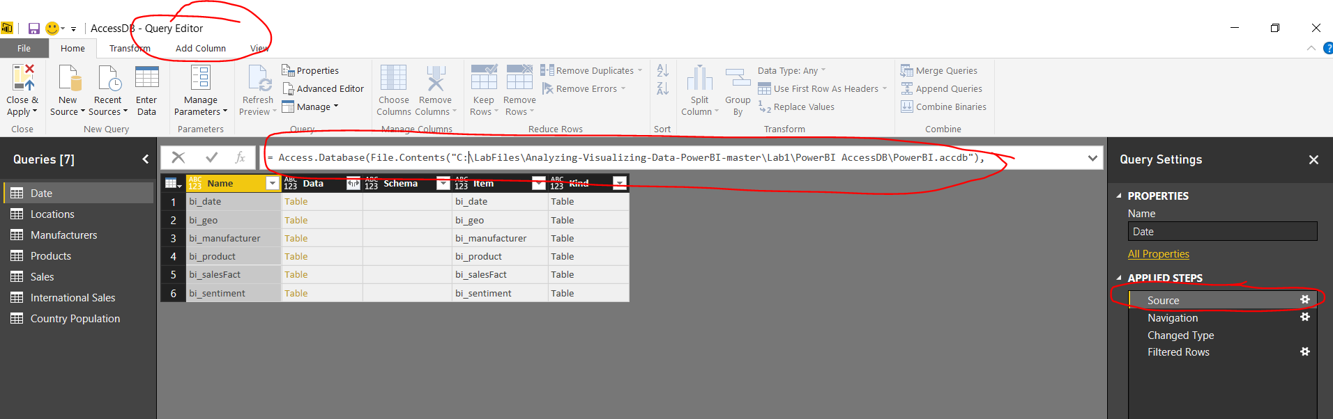 Solved: Cannot edit queries from Lab 2 - Microsoft Power BI