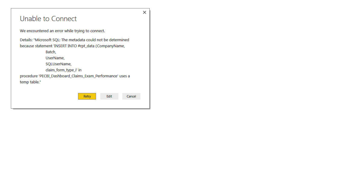 Can't use Temp Tables - really? - Microsoft Power BI Community