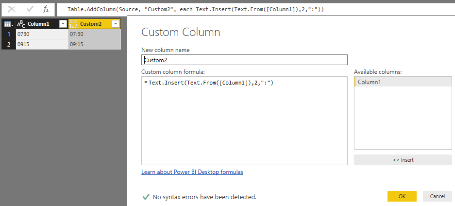 Solved: Power Query | Insert a character to a string - Microsoft