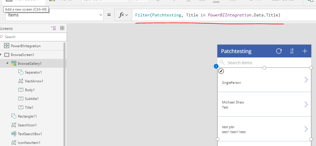 Solved: Filtering the PowerApps Visual using Power BI Slic