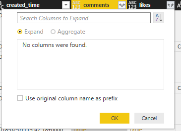 Solved: Facebook connector: Empty likes table - Microsoft Power BI