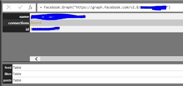 Solved: Facebook connector: Empty likes table - Microsoft