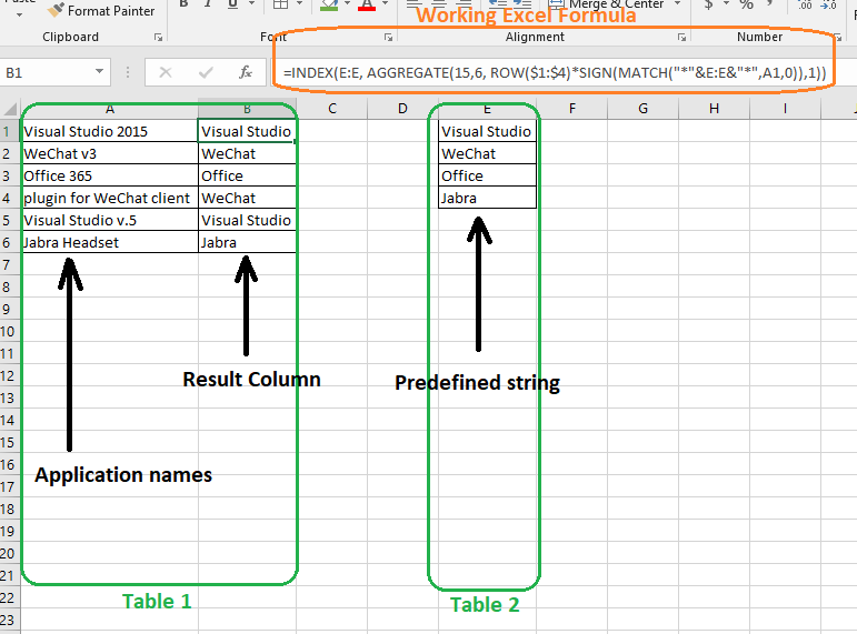 Solved: Matching values in one table, using wildcards, wit