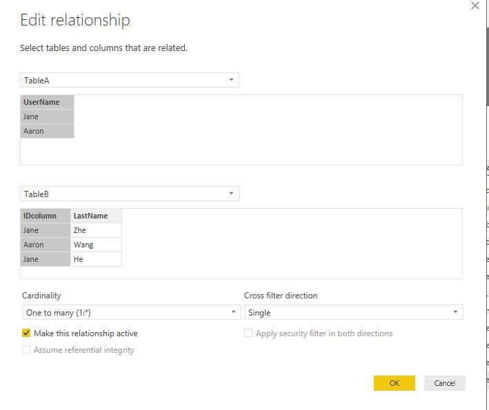 how to display a referenced field value - Microsoft Power BI