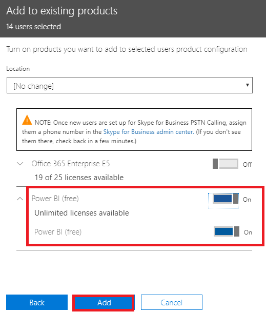 Enabling Free license for all my organisation - Microsoft Power BI