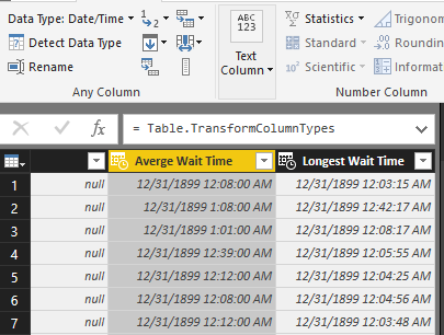 I Figure The Cleanest Way To Track This Call Wait Data Is Convert It Seconds That S Where M Stuck