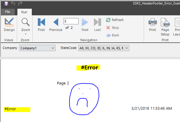 Solved: RDL Header and Footer #Error issue with Shared Dat