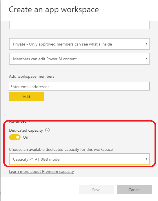 Solved: How to create an app to resides in a Power BI Prem