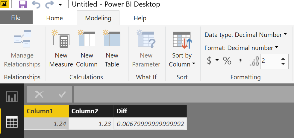 Solved: Display up to two decimal but not by rounding - Microsoft