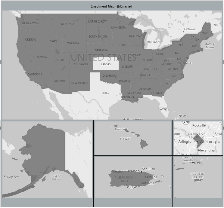 Fill Map Visualization (Puerto Rico ) - Page 2 - Microsoft ... Usa State By Map With Puerto Rice Gray on