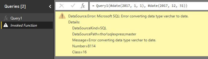 Solved: Passing Date Parameters to a Stored Procedure - Microsoft
