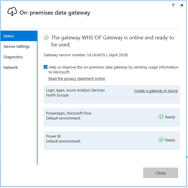 Cannot add datasources in on-premises gateway - Microsoft