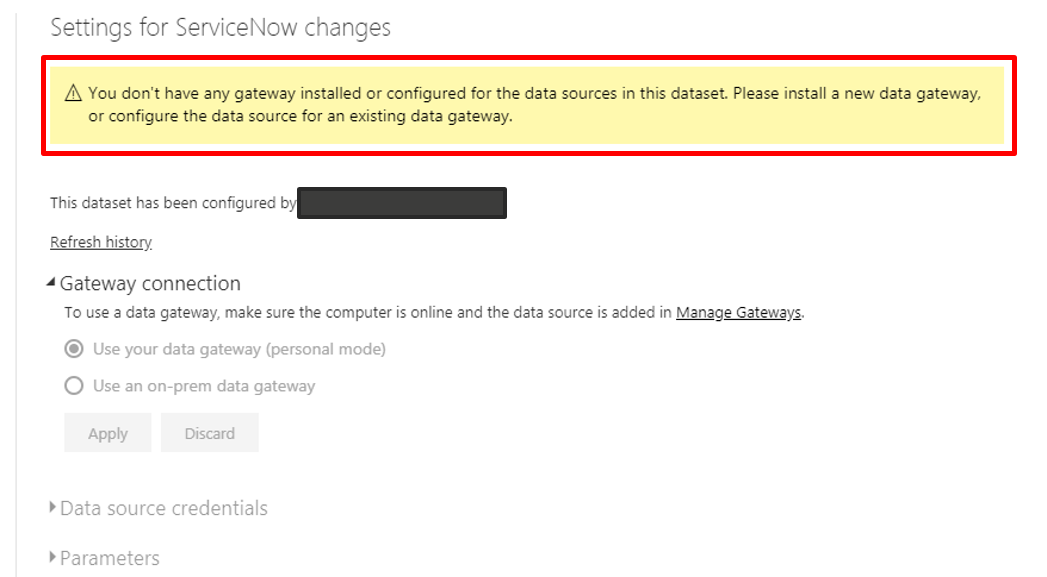 Solved: Publish and schedule refresh for ServiceNow change