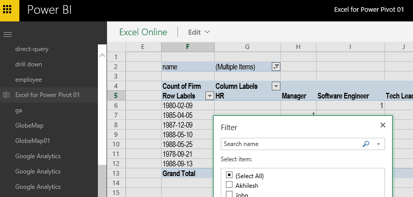 Solved Problem To Work In Excel Online Microsoft Power Bi Community