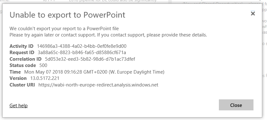 Export to PowerPoint (Preview) feedback - Page 6 - Microsoft